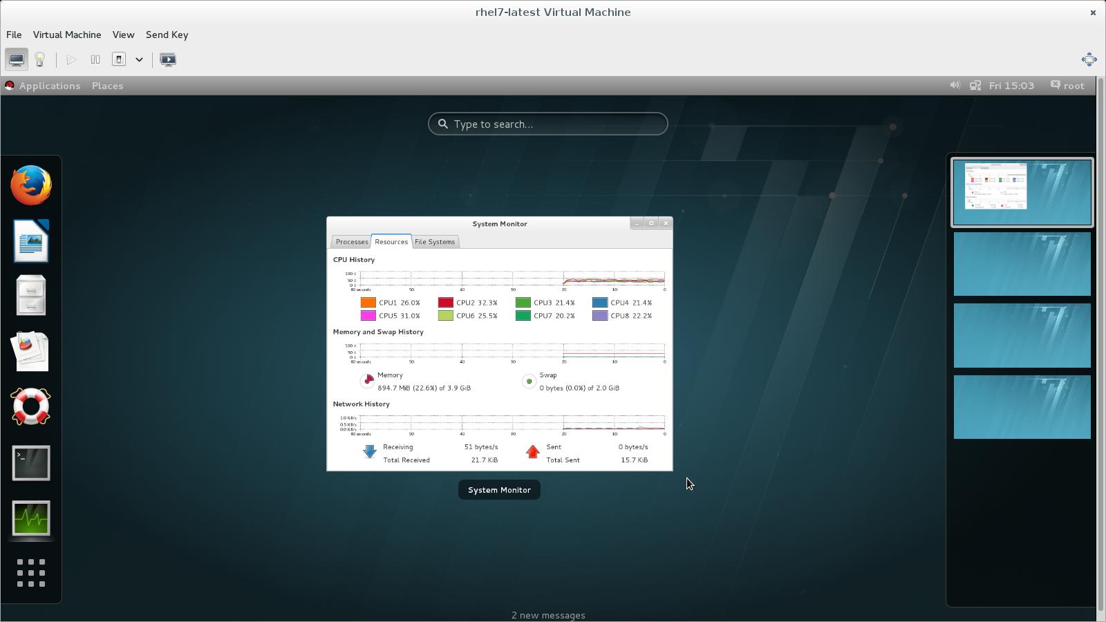 virt-manager Console, virt-viewer